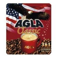 AGLA (Агла) Классик 3 в 1 кофе,  сливки, сахар 50 пак. по 18г. (Россия)