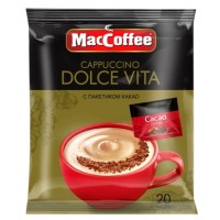 MacCoffee (Маккофе) Капучино Дольче Вита  20пак. по 24г. с какао порошком (Сингапур)