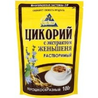 Здоровье Цикорий с экстрактом женьшеня 100г. (Россия)