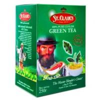 St.Clair's Green Tea зелёный скрученный порох 250г. (Шри-Ланка)