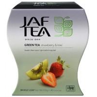 JAF tea Джаф Ти Киви Клубника 100г. зелёный с добавками (Шри-Ланка)