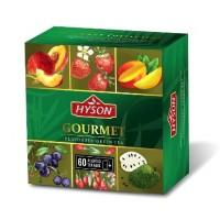 Hyson (Хайсон) Фруктовое ассорти 60 пак. 6 видов по 10 пак. зелёный чай (Шри-Ланка)