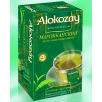 Alokozay (Алокозай) Марокканская Мята зелёный чай 25пак. по 2г. (ОАЭ)