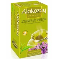 Alokozay (Алокозай) Зелёный чай с Чабрецом 25пак.по 2г. (ОАЭ)