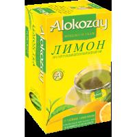 Alokozay Зелёный чай с кусочками Лимона 25пак.по 2г. (ОАЭ)