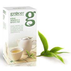Grace Бленд Зеленого и Белого чая 25пак. по 2г. (Шри-Ланка)