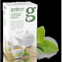 Grace Грейс Зеленый чай с листьями Мелиссы 25пак. по 2г. (Шри-Ланка)