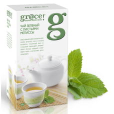 Grace Зеленый чай с листьями Мелиссы 25пак. по 2г. (Шри-Ланка)