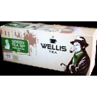 Wellis (Веллис) Зелёный 25пак. по 2г. цейлонский зелёный чай (Шри-Ланка)