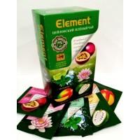 Element (Элемент) Грин Ассорти 25пак. в метал.сашетах зелёный с добавками чай (Шри-Ланка)