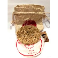 Xiaoxiang (Сяосян) Белый чай ДИКИЙ ПУЭР 7054 (Е Шэн Я Бао Бин) в корзиночке 357 г. (Китай)