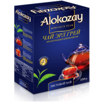 Alokozay Earl Grey 100г. чёрный с бергамотом (О.А.Э.)