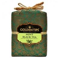 Golden Tips Голден Типс Мята Королевский парчовый мешок 100г. чёрный чай (Индия)