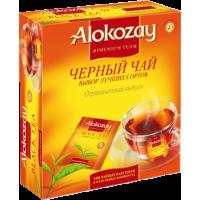 Alokozay Чёрный 100пак. по2г. в конвертах с кружкой в подарок (ОАЭ)