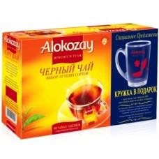 Alokozay Алокозай Чёрный 100пак. по 2г. в конвертах с кружкой в подарок (ОАЭ)