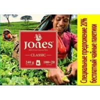 Jones (Джонс) Классик 120пак. по 2г. чёрный пакетированный чай (Шри-Ланка)