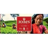 Jones (Джонс) Классик 25пак. по 2г. чёрный пакетированный чай (Шри-Ланка)