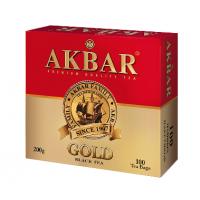 Akbar (Акбар) Голд Ред 100пак. по 2г.  чёрный пакетированный  (Россия)