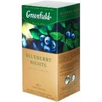 Greenfield (Гринфилд) Блюбери Найт 25 пак. чёрный с черникой со сливками (Россия)