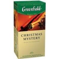 Greenfield (Гринфилд) Кристмас Мистери 25 пак. чёрный с цитрусовыми и специями  (Россия)