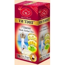 Tea Tang (Тэнг Фитнес) 20пак.  чёрный с Липой, Мятой и Ромашкой  (Шри Ланка)