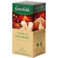 Greenfield (Гринфилд) Ванила Кранберри  25пак. по 1.5г. чёрный аромат. (Россия)