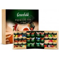 Greenfield (Гринфилд) Ассорти новое 120пак. чёрный, зелёный, травяной чистый и с добавками (Россия)
