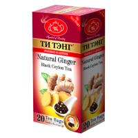 Tea Tang (Ти Тэнг) Имбирь 20пак. чёрный с натур.добавками (Шри-Ланка)