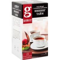 Grace Грейс Ивнинг Тайм чёрный с лёгким ароматом бергамота 25пак. по 2г. (Великобритания, Россия)