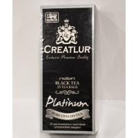Creatlur (Креатлюр) Платинум Бергамот и Лимон 25пак. по 2г. чёрный чай с добавками (Шри Ланка)
