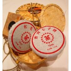 Hunan Xiaoxiang Black Tea Cake 100г.+ Puerh Cake 100г. Особый красный + Пуэр Кейк (Китай)