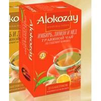 Alokozay Имбирь, Лимон и Мед травяной 25пак. по 2г. (О.А.Э.)
