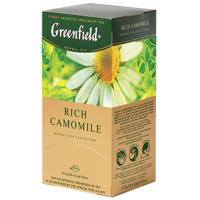 Greenfield (Гринфилд) Рич Камомайл 25пак. по 1.5г. травяной с ромашкой (Россия)