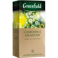 Greenfield (Гринфилд) Камомайл Меадов  25пак. по 1.5г. травяной с ромашкой и личи (Россия)
