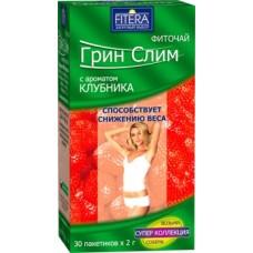 FITERA Грин Слим Клубника 30 пак. (Россия)