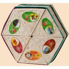 Ти Тэнг чёрный и зелёный чай Шестигранник Набор из 6 видов по 50г. (Шри Ланка)