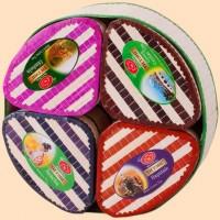 TeaTang ТиТэнг Плетёная коробка 4 вида по 50г. зелёный и чёрный чай. Диаметр- 18,5см. (Шри-Ланка)