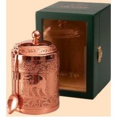 Ти Тэнг Золотой в чайнице в деревянной шкатулке со стеклом 50г. (Шри Ланка)