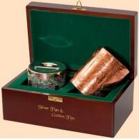 Ти Тэнг Набор Серебряный и Золотой в чайницах в деревянной шкатулке по 50г. (Шри Ланка)
