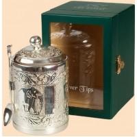 Ти Тэнг Серебрянный в чайнице в деревянной шкатулке со стеклом 50г. (Шри Ланка)
