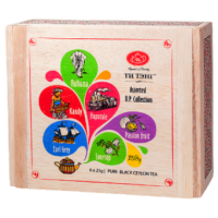 Tea Tang Ти Тэнг Деревянная Шкатулка Ассорти чёрный крупнолистовой (Шри-Ланка)