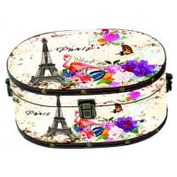 Gvendelin Саквояж Весна в Париже  225г. чёрный 24см.*18см.*14см. (Шри Ланка)