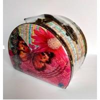 Gvendelin (Гвенделин) Кейс Розовая бабочка 100г. 16,5см.* 12,5см.* 10,5см. (Шри-Ланка)
