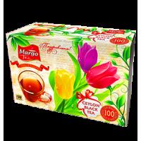 Margo tea Тюльпаны 100пак. по 2г. чёрный с КРУЖКОЙ (Шри-Ланка)