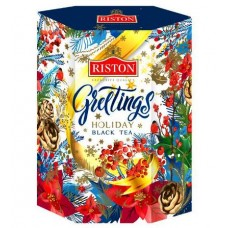 Riston Праздничные поздравления 90г. чёрный, индийский, картон (Россия)