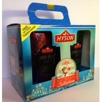Hyson Хайсон Рождество 100г. чёрный аромат + 100г. зелёный аромат (Шри-Ланка)