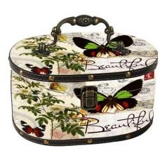 Gvendelin Саквояж Зелёная Бабочка 250г. чёрный 24см.*18см.*14см. (Шри Ланка)