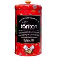 Tarlton Тарлтон Красный бархат 150г. чёрный чай с кусочками клубники (Шри-Ланка)