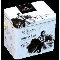 Chelton Челтон Музыкальная шкатулка Лебединое озеро 100г. чёрный чай Размер:12см.*13см.*9,5см.(Шри-Ланка)