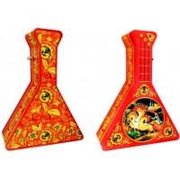 ИМЧ Балалайка красная музыкальная 50г. чёрный чай Размер: 24см.*18см. (Шри-Ланка)